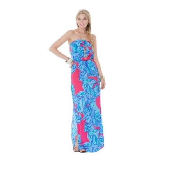 12e4e4d8a6d Lilly Pulitzer Dresses   Skirts - Lilly Pulitzer Floral Strapless Maxi Dress